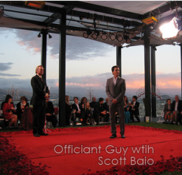 Marriage officiant for the Los Angeles wedding of celebrity Scott Baio on VH1