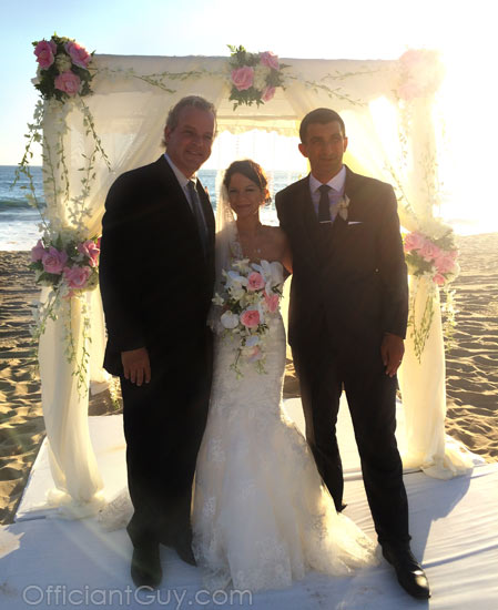 santa monica wedding officiant shutters