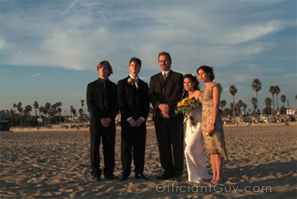 Beach Wedding Officiants Los Angeles Orange County