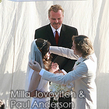 officiant for milla jovovich