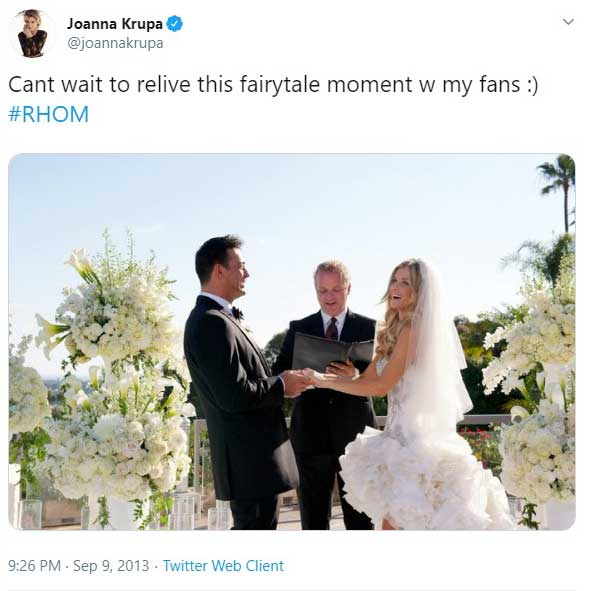 wedding officiant for Joanna Krupa and Romain Zago on Real Housewives